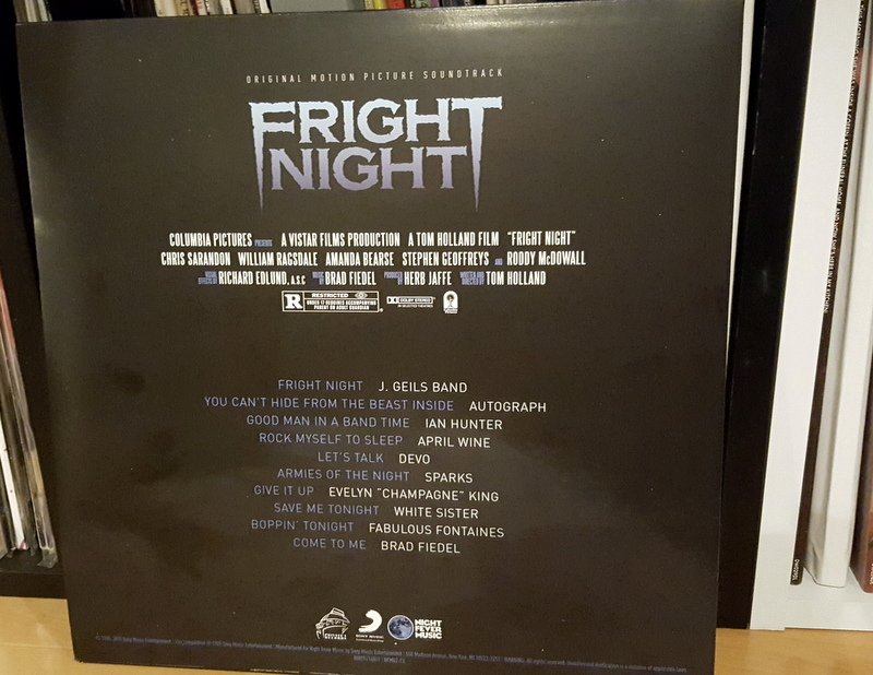 Vinyl Review: Fright Night Original Motion Picture Soundtrack (Night ...